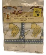 Vtg Classic Pooh Winnie the Pooh Bear 2ct  Flannel Blankets 100% Cotton NEW - $49.49