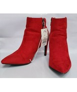 A New Day Women's Norelle Microsuede Stiletto Pointed Bootie Red - Size 8.5 - $23.38