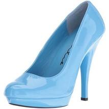"Ellie Shoes 521-FEMME-W Blue  Matte Wide Width Classic Pump 5"" Heel Larg... - $58.95"