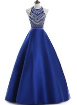 Women's 2018 Sequins Evening Party Gowns Beading Formal Cheap Prom Dress... - $144.00