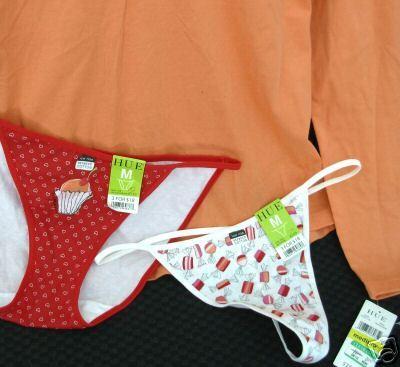 New lot HUE sz MED Pajama Sleep Top Thong Bikini Panties M $41 retail
