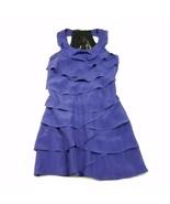 Ark & Co Purple Dress Womens M Medium Crochet Sleeveless Ruffle Frill La... - $11.68