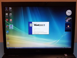 Nice Working Dell Latitude E6500 Laptop with Windows Vista Business MS O... - $133.65