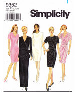 SIMPLICITY 9352 PATTERN MISSES' DRESS SZ. P 12-16 - $4.50