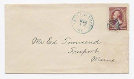 c1885 East Livermore ME Vintage Post Office Postal Cover - $9.95