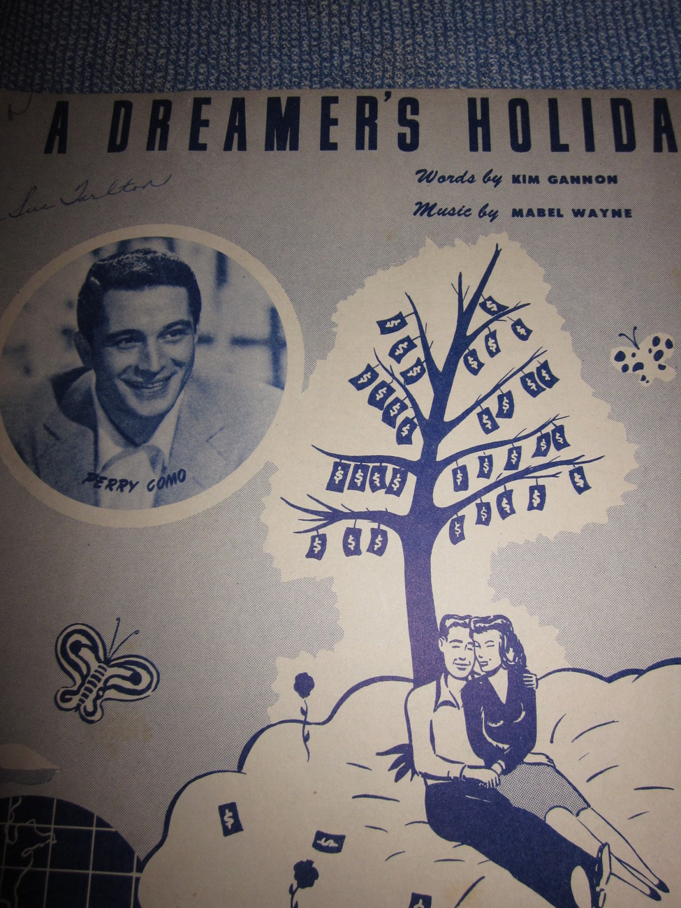 Vintage Sheet Music A Dreamers Holiday - Perry Como 1949