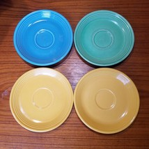 LOT 4 VINTAGE FIESTA two Yellow one Turquoise one Lt Green Tea Cup SAUCE... - $9.70
