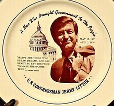 U.S. Congressman Jerry Litton Commemorative Plate AA20-CP2235 Vintage May 2, 193