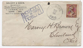 1887 Elmore OH Vintage Post Office Postal Cover - $9.95
