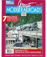 Great Model Railroads 7 Train Layouts Model Railroader 1993 HO N O Scale... - $5.93