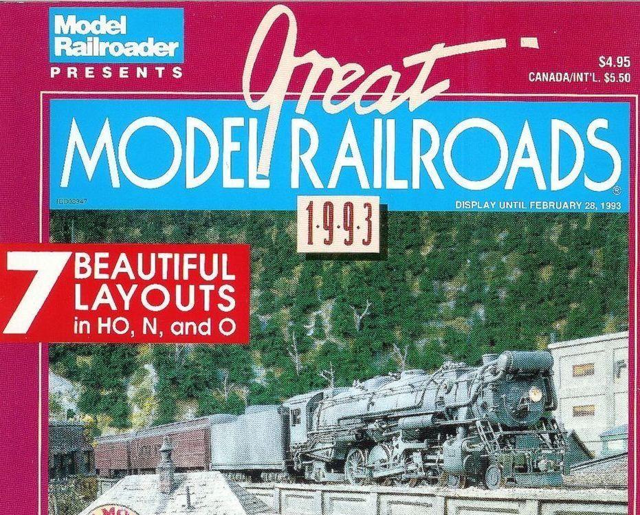 Great Model Railroads 7 Train Layouts Model Railroader 1993 HO N O Scale Trains