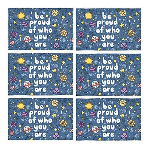 InterestPrint Be Proud of Who You are with Lovely Planets Moon Spaceship Starts