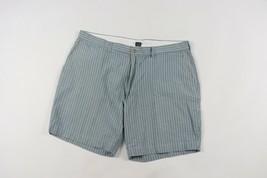 Vintage 90s Polo Ralph Lauren Mens Size 40 Striped Prospect Shorts Blue White - $39.55