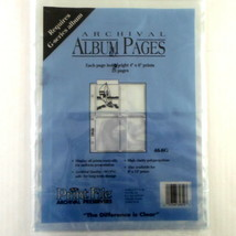 PRINT FILE #46-8G Archival 4x6 Photo Print Preservers 21 Pages OPEN PACK - $12.99