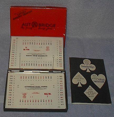 Vintage Autobridge Play Yourself Bridge Game No. PB 1959