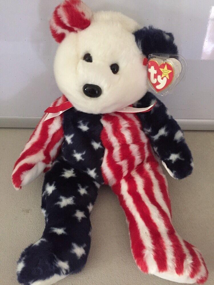 TY Spangle Teddy Bear Beanie Buddy 1999 Stuffed plush