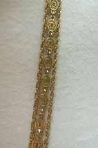 """Monet Necklace Multi Chain Long 51"""" Designer Gold Plated Oval Links NICE Cond image 5"""