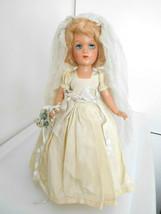 """Vintage 1940's Composition 14"""" Bride All Original - $28.99"""