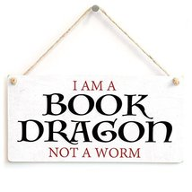 Meijiafei I Am A Book Dragon Not A Worm - Stylish Sign Gifts For Book Lovers Rea - $12.86