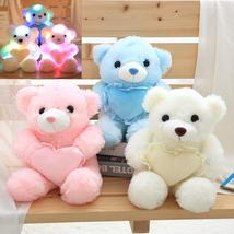 1pc 30cm Colorful Glowing Teddy Bear Luminous Plush Toys Kawaii Light Up Led Ted - $39.99