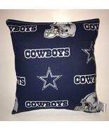 Cowboy Pillow Dallas Cowboy NFL Pillow Handmade in USA Cow Boys FootBall... - $9.99