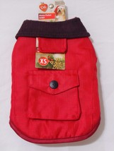 Pet Central Burgundy Winter Pocket Pet Dog Jacket-Extra Small XS-NWT - $8.45