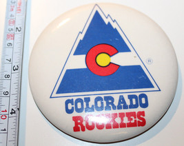 "Colorado Rockies NHL Vintage Collectible Pin Button Made in Canada 3 3/8"" - $16.72"