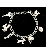 Vintage Sterling Charm Bracelet Animal Insect ... - $39.00