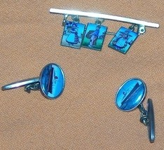 Vintage Holland Cufflink and Hat Brouch Hat Pin - $35.00