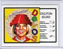 "2017 Wacky Packages Trumpocracy 1st 100 Days ""DEVOS"" #37 Sticker Card. - $12.19"