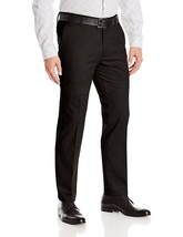 Men's Formal Slim Fit Slacks Trousers Flat Front Business Dress Pants image 2