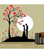HOME DECOR COUPLE UNDER TREE WALL STICKER, WALL STICKER FOR BEDROOM, 48 ... - $24.74