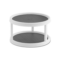 Copco 2555-0187 Non-Skid 2-Tier Pantry Cabinet Lazy Susan Turntable, 12-... - $13.51