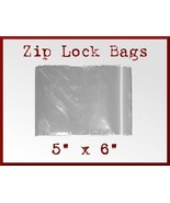 200 Zip Lock Top Recloseable Poly Seal Bags 5 x 6 FDA USDA Approved Food... - $17.48