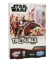 NEW SEALED Hasbro Star Wars Mandalorian Grab and Go Trouble Board Game - $15.83