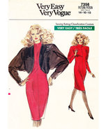 VOGUE 7356 VERY EASY MISSES' JACKET & DRESS SZ. 14-16-18 - $6.95
