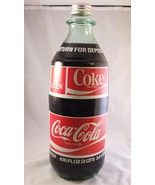 Vintage 1970 Coke Coca Cola 2 liter Glass ACL New Bottle Full  - $89.99