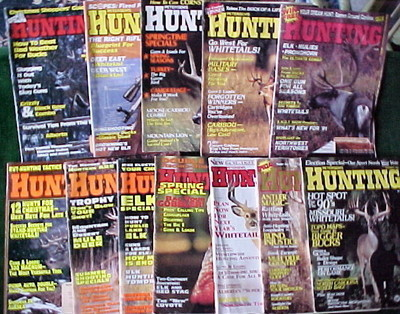 12 ISSUES-PETERSEN'S HUNTING-1990-1991-1992-1993-TROPHY DEER;TACTICS,TECHNIQUE