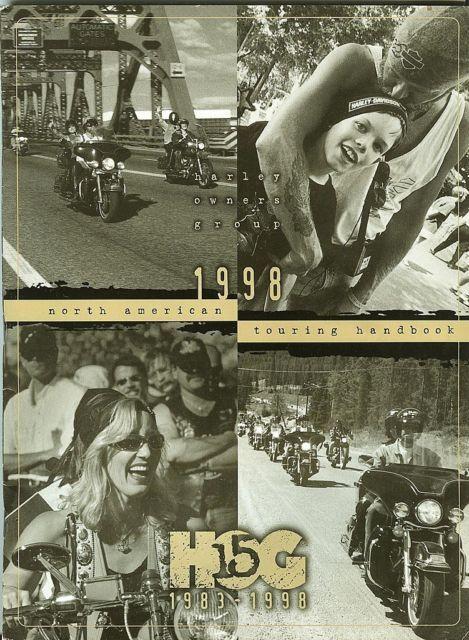 1998 15th ANNIVERSARY HARLEY OWNERS GROUP H.O.G. TOURING HANDBOOK-1983-19989;EUC