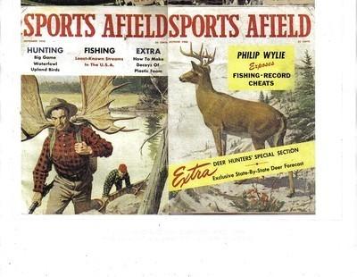 2 Issues-1960 SPORTS AFIELD-SEPTEMBER-OCTOBER-Fish/Hunt/Trap/SHOOT;OUTDOOR SPORT