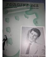 Vintage Sheet Music -  Forgive Me - Eddie Fisher 1952 - $7.99