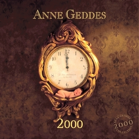 2000 Anne Geddes Millennium Clock Wall CalendarOOP,HTF-Frameable BABY PICTURES! image 2
