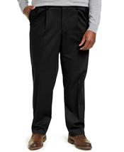 Dockers Mens Signature Lux B&T Classic Fit Pleated Khaki Pants D4 Black-... - $29.99