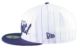 Dissizit New Era Fitted Baseball Cap White/Navy Pinstripe Hat new York City NYC image 5