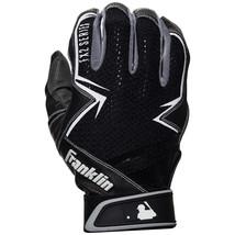 Franklin Sports MLB Freeflex 2 Youth Batting Gloves - Black/White - X-Small - $16.82