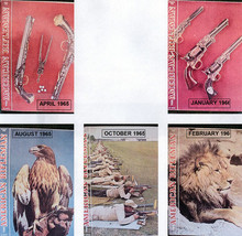 5) American Rifleman 1965 (Apr,Aug,Oct); 1966 (Jan,Feb)-Air Rifles;GUNS;HUNTING image 1