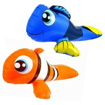 """2 x Summer Pool Floats Nemo and Dory Inflatable Pool Fish Floaties 27"""" N... - $10.40"""
