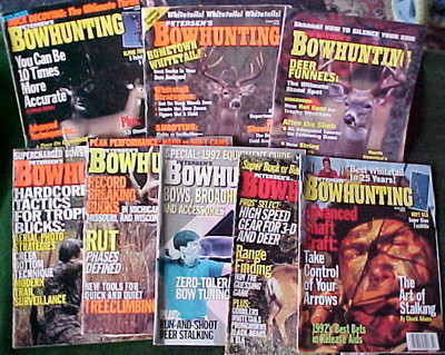 8 ISSUES-PETERSEN'S BOWHUNTING-1991-1992-1993-TACTICS,TOOLS,STALKING,TREE CLIM