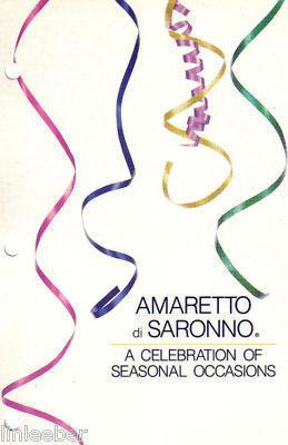 AMARETTO DI SARONNO-A CELEBRATION OF SEASONAL OCCASIONS-18 RECIPE CARDS;1985