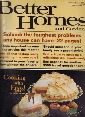 BETTER HOMES AND GARDENS 1966 MARCH-Remodel/Decorate Ideas/CRAFTS/FOOD/HOBBIES